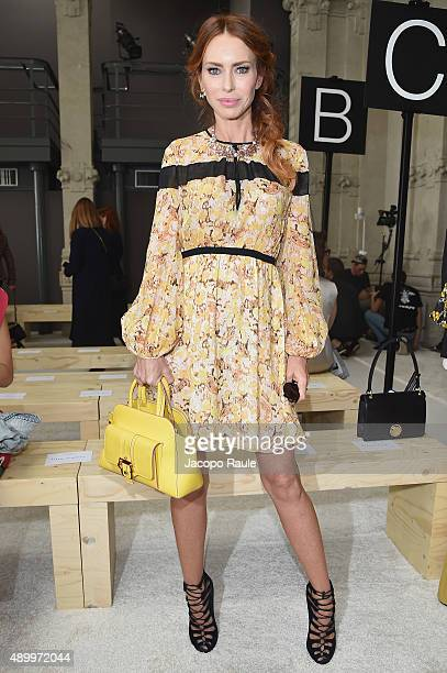 Yvonne Scio attends the Giamba show during the Milan Fashion Week Spring/Summer 2016 on September 25 2015 in Milan Italy