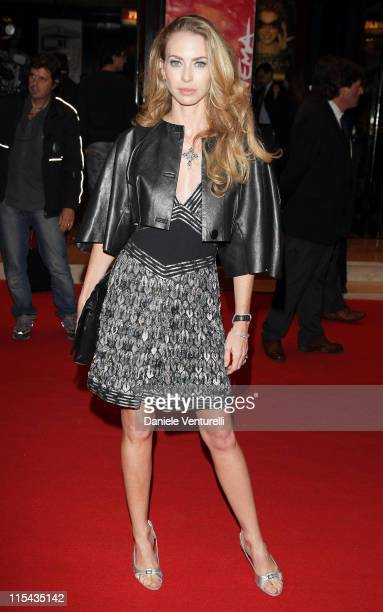 Yvonne Scio attends the Opening Ceremony Concert and Tribute To Sophia Loren during Day 1 of the 2nd Rome Film Festival on October 18 2007 in Rome...