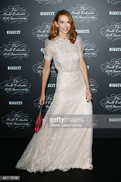 Yvonne Scio attends the Pirelli Calendar 50th Anniversary event on November 21 2013 in Milan Italy