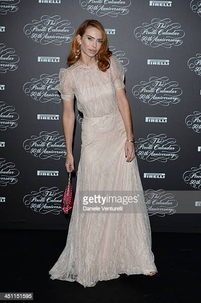 Yvonne Scio attends the Pirelli Calendar 50th Anniversary Red Carpet on November 21 2013 in Milan Italy