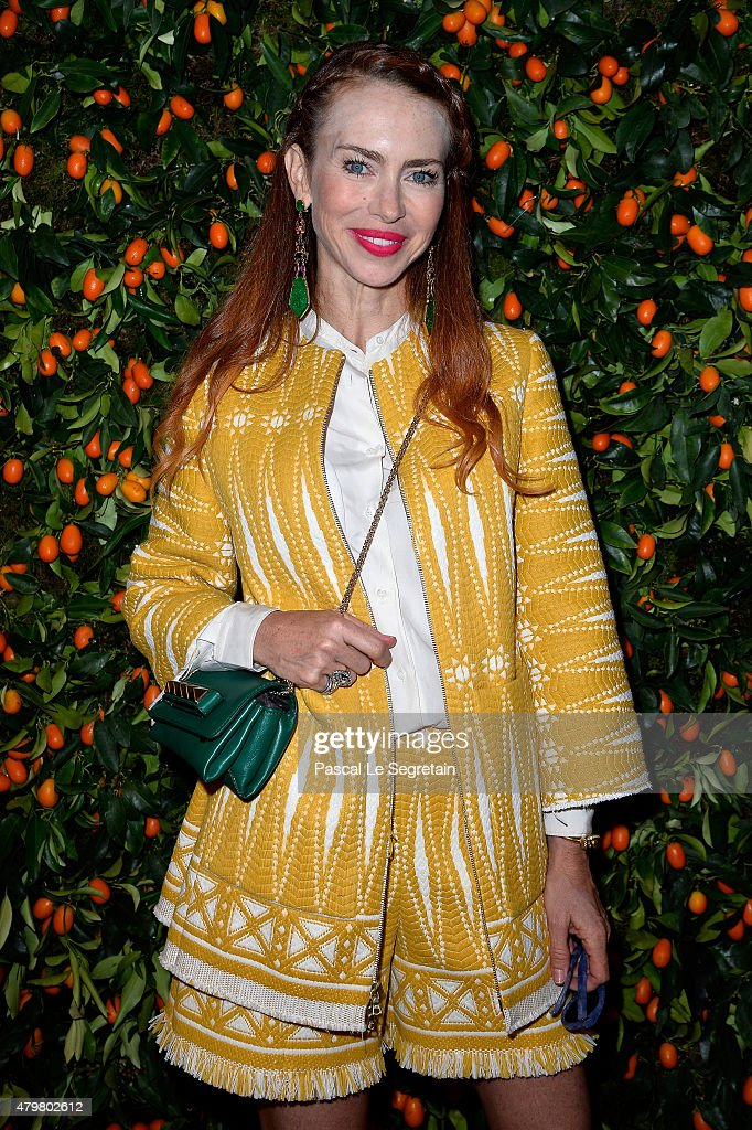 Yvonne Scio attends the Tory Burch Paris Flagship store opening on July 7 2015 in Paris France