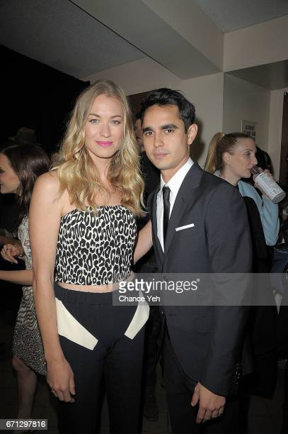 Yvonne Strahovski and Max Minghella attend 'The Handmaid's Tale' screening during 2017 Tribeca Film Festival at BMCC Tribeca PAC on April 21 2017 in...