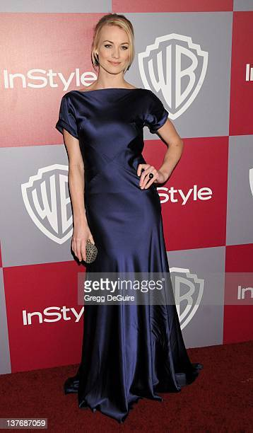 Yvonne Strahovski arrive sat the 12th Annual Warner Bros and Instyle PostGolden Globe Party at the Beverly Hilton Hotel on January 16 2011 in Beverly...