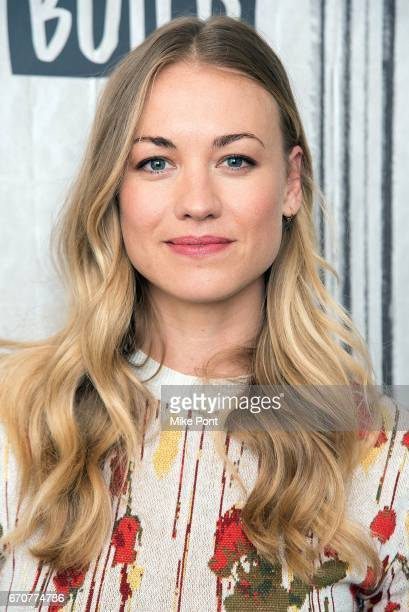 Yvonne Strahovski attends Build Studios to discuss 'The Handmaid's Tale' at Build Studio on April 20 2017 in New York City