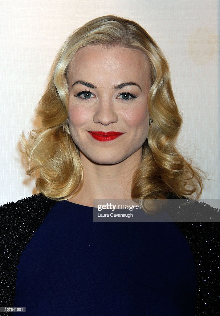 Yvonne Strahovski attends 'Golden Boy' Opening Night Party at Millennium Broadway Hotel on December 6, 2012 in New York City.