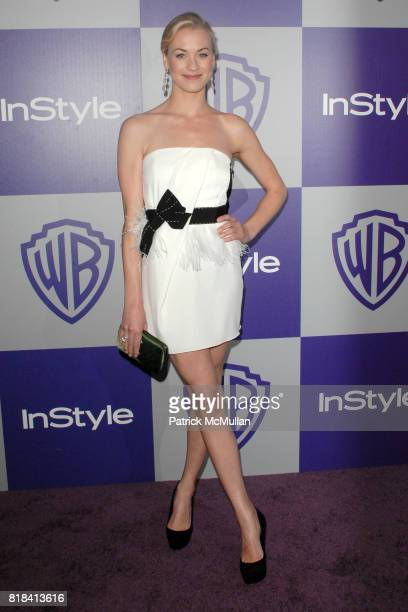 Yvonne Strahovski attends INSTYLE and WARNER BROS Golden Globes After Party at Oasis Courtyard on January 17 2010 in Beverly Hills California