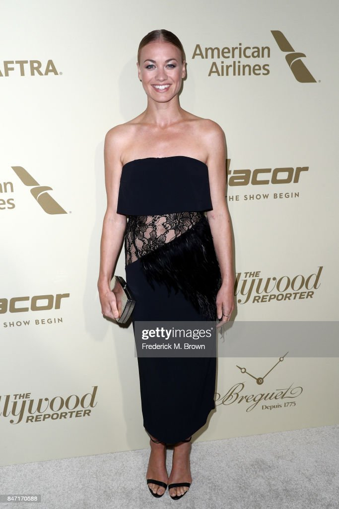 Yvonne Strahovski attends The Hollywood Reporter and SAG-AFTRA Inaugural Emmy Nominees Night presented by American Airlines, Breguet, and Dacor at the Waldorf Astoria Beverly Hills on September 14, 2017 in Beverly Hills, California.