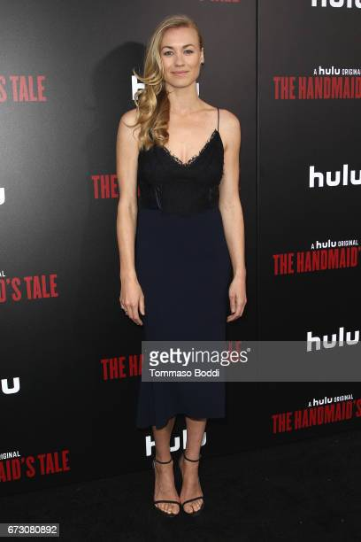 Yvonne Strahovski attends the Premiere Of Hulu's 'The Handmaid's Tale' at ArcLight Cinemas Cinerama Dome on April 25 2017 in Hollywood California