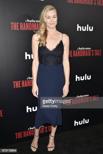 Yvonne Strahovski attends the Premiere Of Hulu's 'The Handmaid's Tale' Arrivals at The Dome at Arclight Hollywood on April 25 2017 in Hollywood...