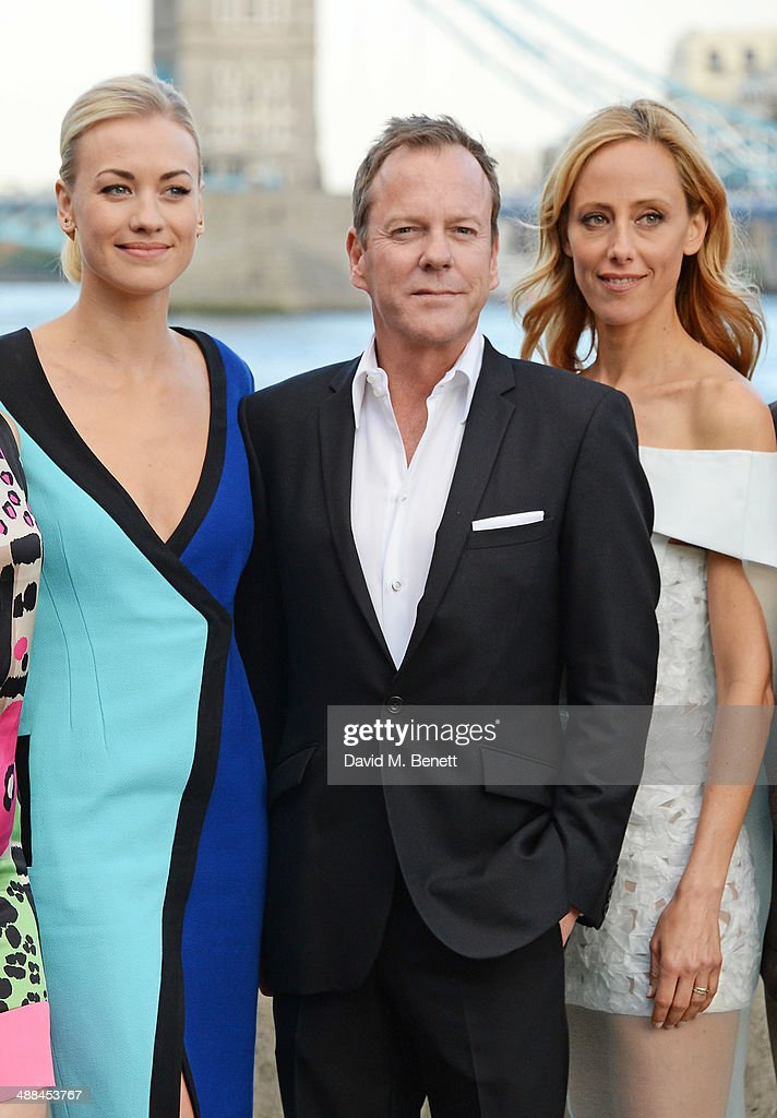 <a gi-track='captionPersonalityLinkClicked' href=/galleries/search?phrase=Yvonne+Strahovski&family=editorial&specificpeople=4387578 ng-click='$event.stopPropagation()'>Yvonne Strahovski</a>, <a gi-track='captionPersonalityLinkClicked' href=/galleries/search?phrase=Kiefer+Sutherland&family=editorial&specificpeople=203142 ng-click='$event.stopPropagation()'>Kiefer Sutherland</a> and <a gi-track='captionPersonalityLinkClicked' href=/galleries/search?phrase=Kim+Raver&family=editorial&specificpeople=213709 ng-click='$event.stopPropagation()'>Kim Raver</a> attend the UK premiere of '24: Live Another Day' at Old Billingsgate Market on May 6, 2014 in London, England.