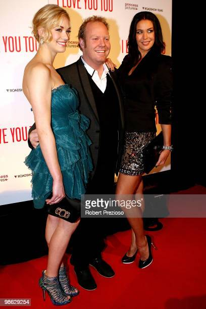Yvonne Strahovski Peter Hellier and Megan Gale attend the premiere of 'I Love You Too' at Village Jam Factory on April 23 2010 in Melbourne Australia
