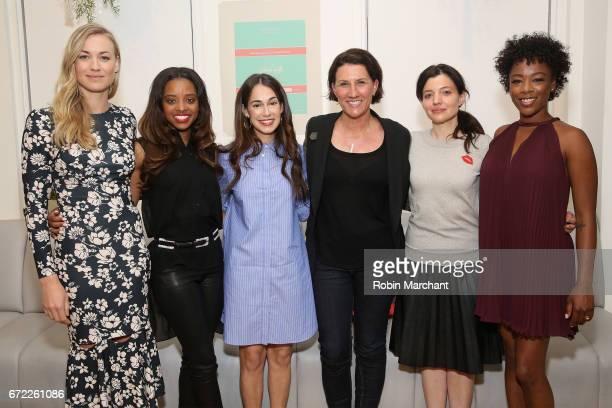 Yvonne Strahovski Tamika Mallory Audrey Gelman Jenny Wall Beatrice Springborn and Samira Wiley attend a VIP screening of the Original Series 'The...
