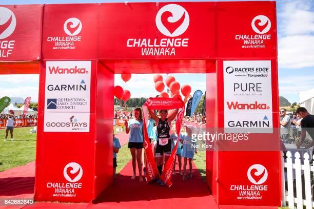 Yvonne van Vlerken of the Netherlands winning the 2017 Challenge Wanaka on February 18 2017 in Wanaka New Zealand