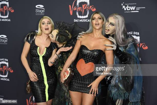 Yvonne Woelke and Micaela Schaefer attend the 'Tanz der Vampire' Musical Premiere at Stage Theater on September 17 2017 in Hamburg Germany