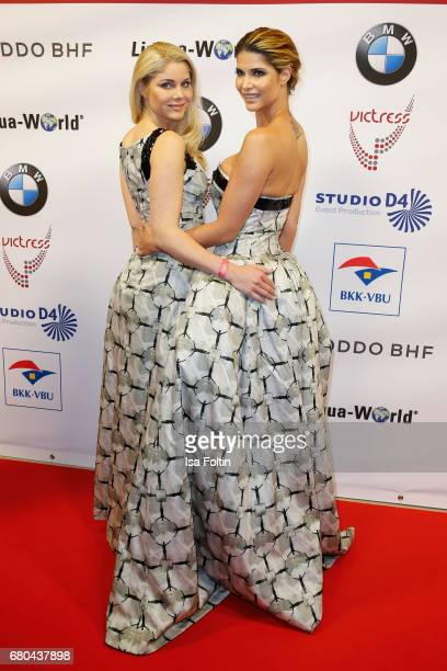 Yvonne Woelke and Micaela Schaefer attend the Victress Awards Gala on May 8 2017 in Berlin Germany