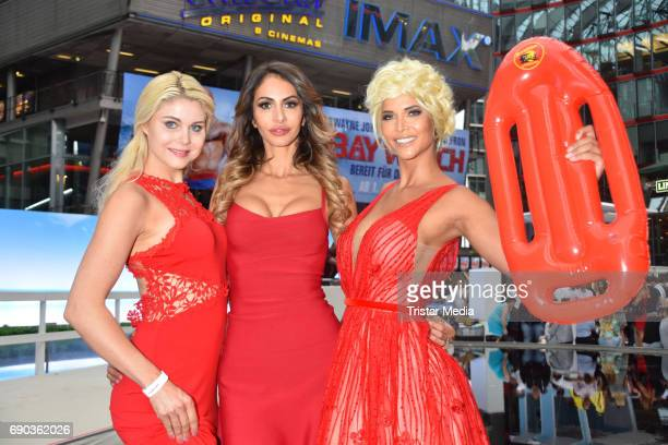 Yvonne Woelke Janina Youssefian and Micaela Schaefer during the Baywatch European Premiere Party on May 31 2017 in Berlin Germany