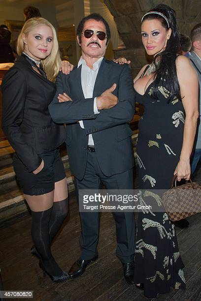 Yvonne Woelke Kalle Schwensen and Djamila Rowe attend the Adagio ReOpening on October 11 2014 in Berlin Germany