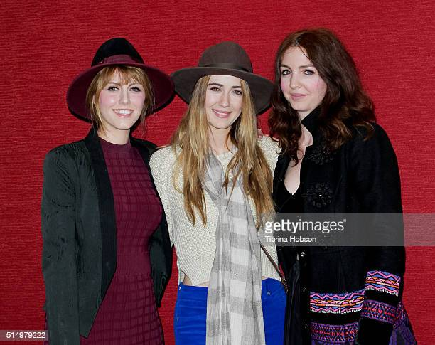 Yvonne Zima Madeline Zima and Vanessa Zima attend the premiere of 'The Automatic Hate' at Laemmle Monica Film Center on March 11 2016 in Santa Monica...