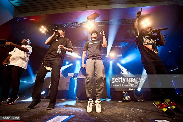 Zaakir Chali 2na Marc 7even and Akil of Jurassic 5 perform live during a concert at the Astra on August 25 2015 in Berlin Germany