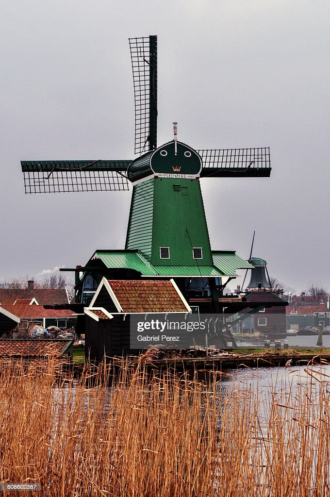 Zaanse Schans Dutch Windmills : Foto de stock