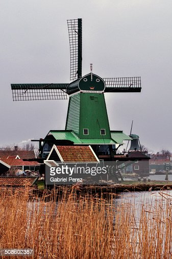 Zaanse Schans Dutch Windmills : Foto de stock