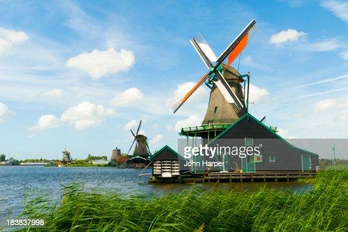 Zaanse Schans Windmills, Netherlands.