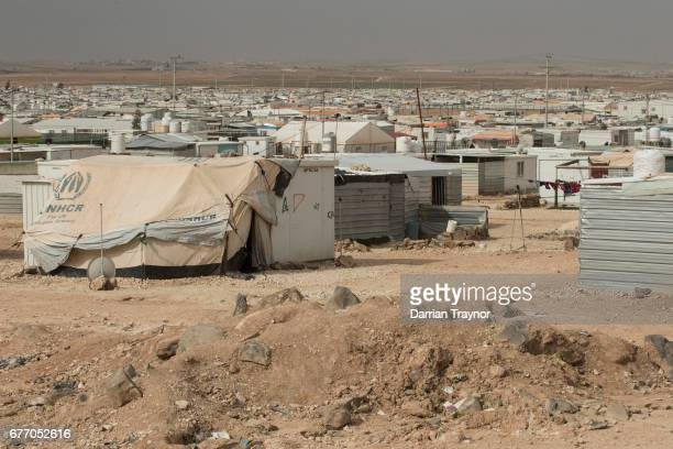 Zaatari refugee camp is located 80 kilometers north of the capital Amman close to the northern Jordanian city of Mafraq and is home to some 80000...