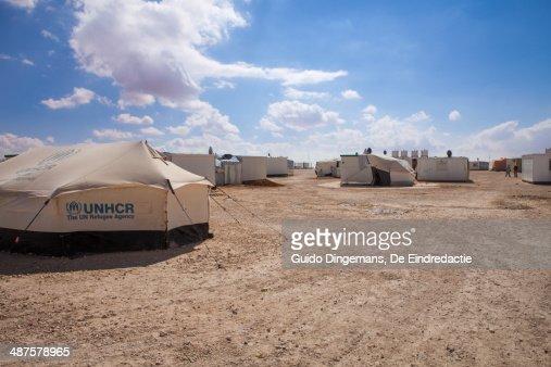 Zaatari Syrian refugee camp in Jordan