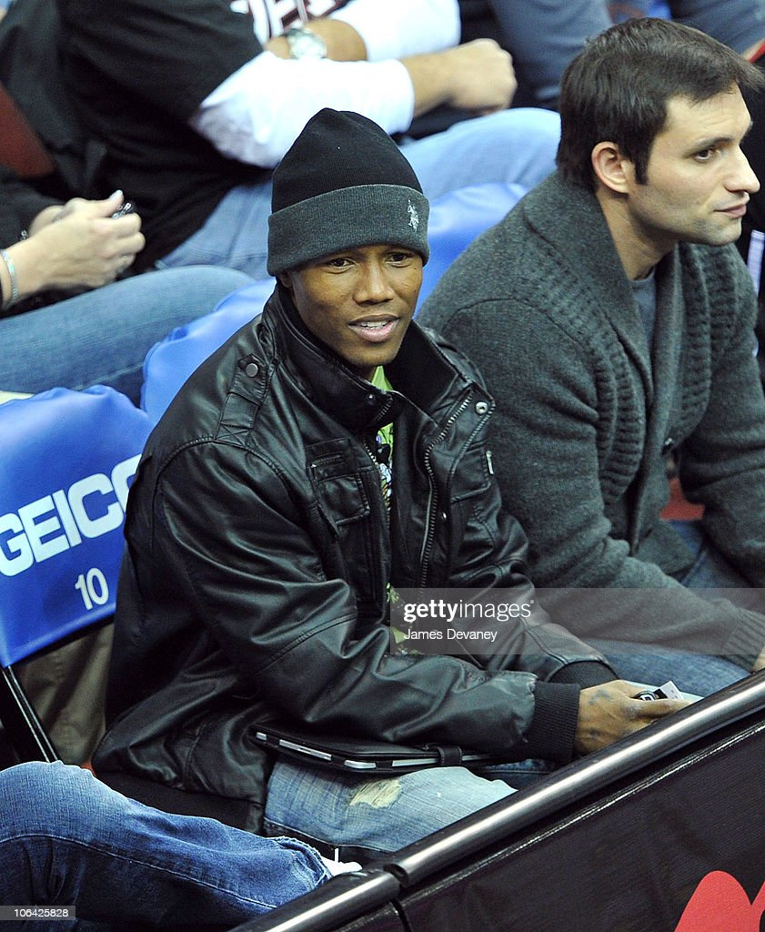 <a gi-track='captionPersonalityLinkClicked' href=/galleries/search?phrase=Zab+Judah&family=editorial&specificpeople=172008 ng-click='$event.stopPropagation()'>Zab Judah</a> attends the Miami Heat vs NJ Nets Game at Prudential Center on October 31, 2010 in Newark City.