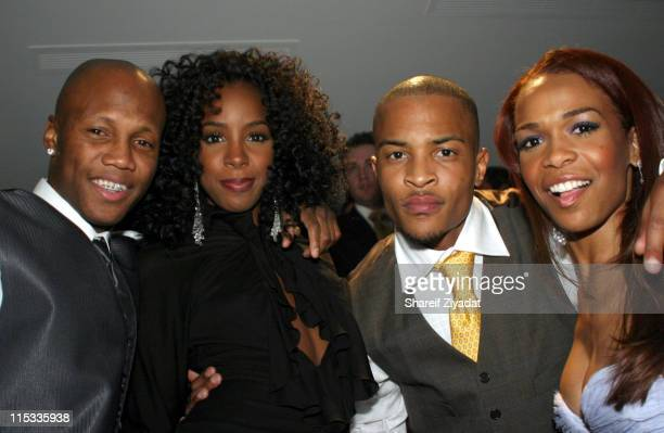Zab Zudah Kelly Rowland TI and Michelle during JayZ Celebrates The Grand Opening of The 40/40 Club in Atlantic City Inside at The 40/40 Club in...