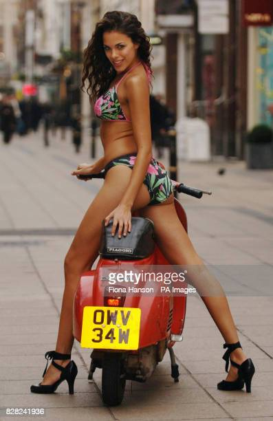Zabeena models the 'hibiscus' bikini 2999 from Marks and Spencers Spring 2006 Per Una range by George Davies in London Wednesday November 30 2005 The...