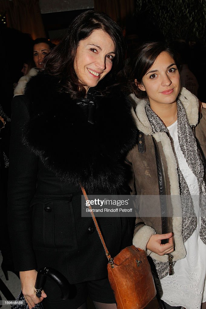 <a gi-track='captionPersonalityLinkClicked' href=/galleries/search?phrase=Zabou+Breitman&family=editorial&specificpeople=588305 ng-click='$event.stopPropagation()'>Zabou Breitman</a> and her daugther Anna Chalon, aka Kiddo attend 'La Petite Maison De Nicole' Inauguration Cocktail at Hotel Fouquet's Barriere on January 21, 2013 in Paris, France.