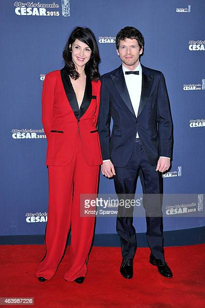 Zabou Breitman and Pierre Deladonchamps attend the 40th Cesar Film Awards at Theatre du Chatelet on February 20 2015 in Paris France