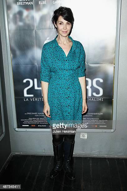Zabou Breitman attends '24 Jours' Paris Premiere at Publicis Champs Elysees on April 29 2014 in Paris France