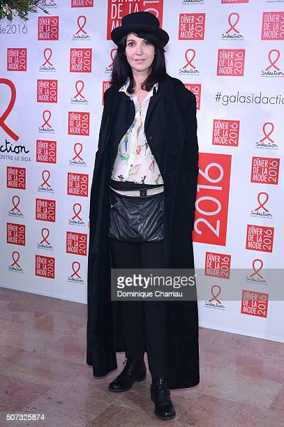 Zabou Breitman attends the Sidaction Gala Dinner 2016 as part of Paris Fashion Week on January 28 2016 in Paris France