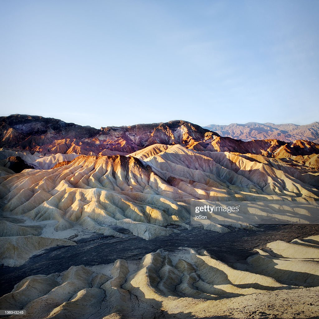 Zabriskie Point in Death Valley National Park : Stock Photo