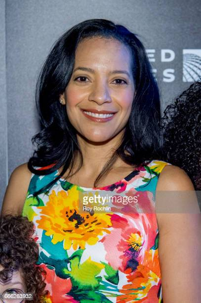 Zabryna Guevara attends Disneynature with the Cinema Society host the premiere of 'Born in China' at Landmark Sunshine Cinema on April 8 2017 in New...