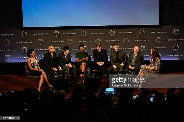 Zabryna Guevara Sean Pertwee Robin Lord Taylor Jada Pinkett Smith Donal Logue Ben McKenzie Danny Cannon and Kristen Baldwin attend the GOTHAM Panel...