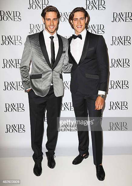 Zac and Jordan Stenmark arrive at the David Jones Spring/Summer 2014 Collection Launch at David Jones Elizabeth Street Store on July 30 2014 in...