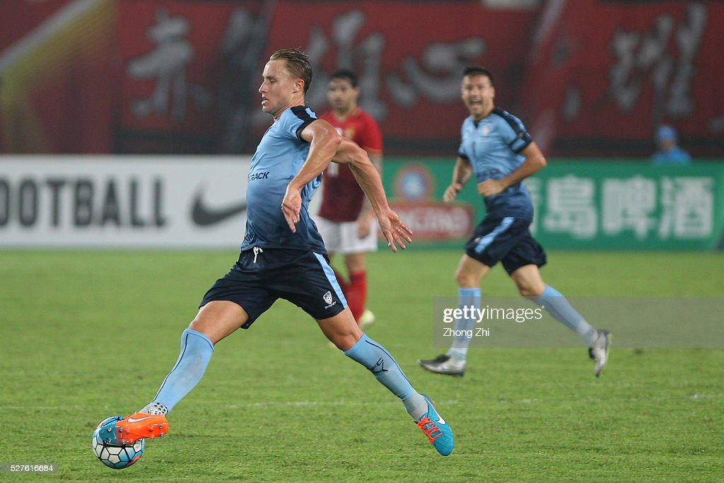 Zac Anderson of Sydney FC in action during the AFC Asian Champions League match between Guangzhou Evergrande FC and Sydney FC at Tianhe Stadium on May 3, 2016 in Guangzhou, China.