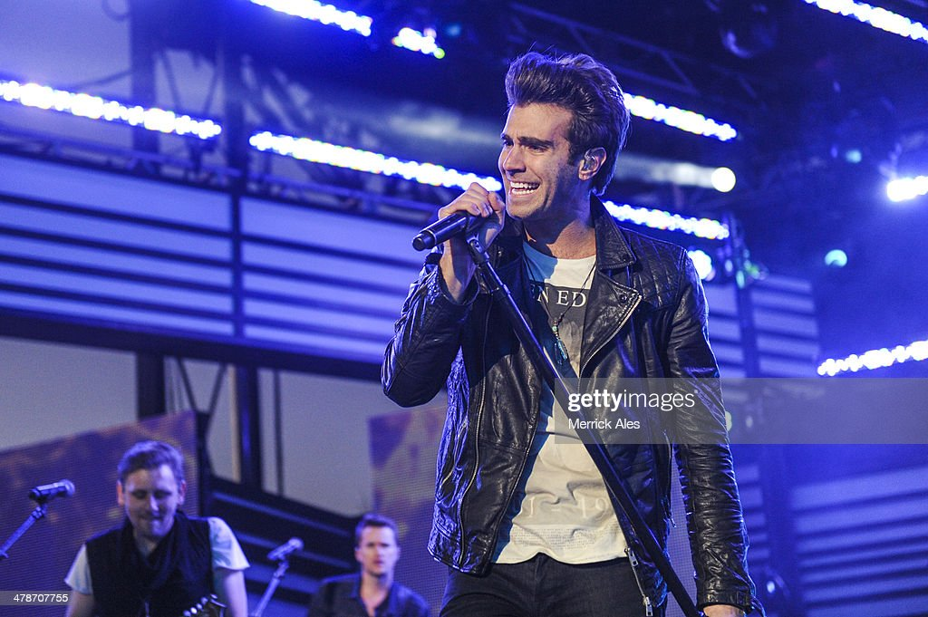Zac Barnett of American Authors performs at the 2014 mtvU Woodie Awards on March 13, 2014 in Austin, Texas.