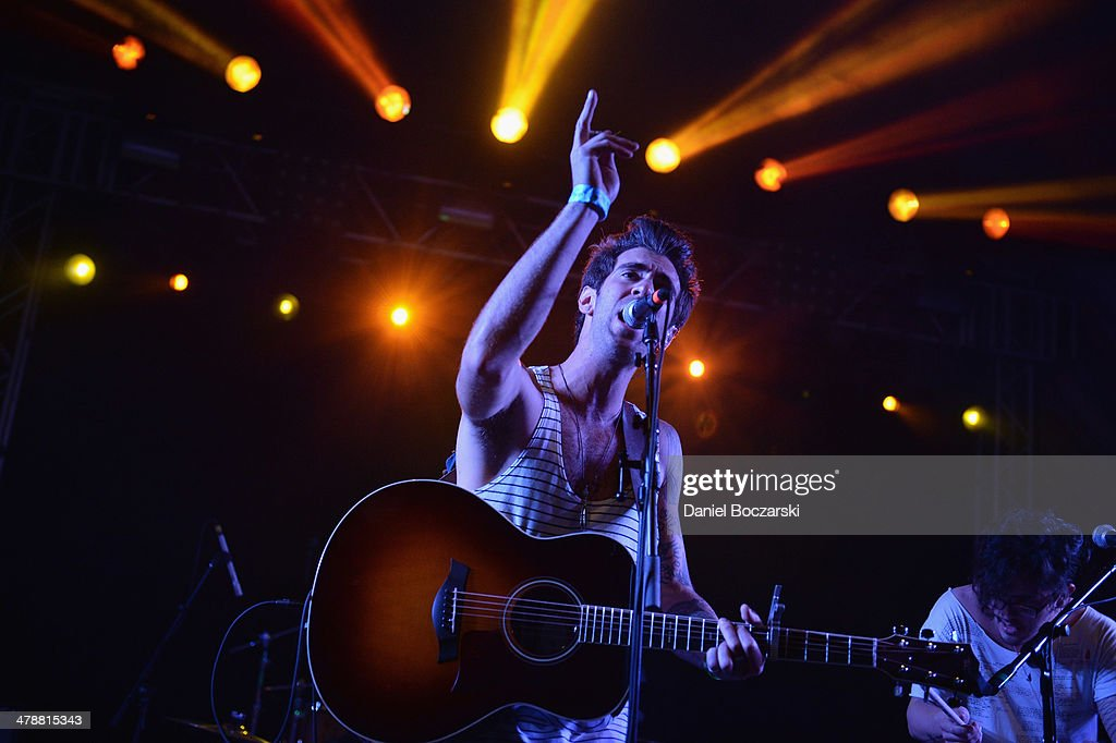 Zac Barnett of American Authors performs on stage at Stubb's on March 14, 2014 in Austin, United States.