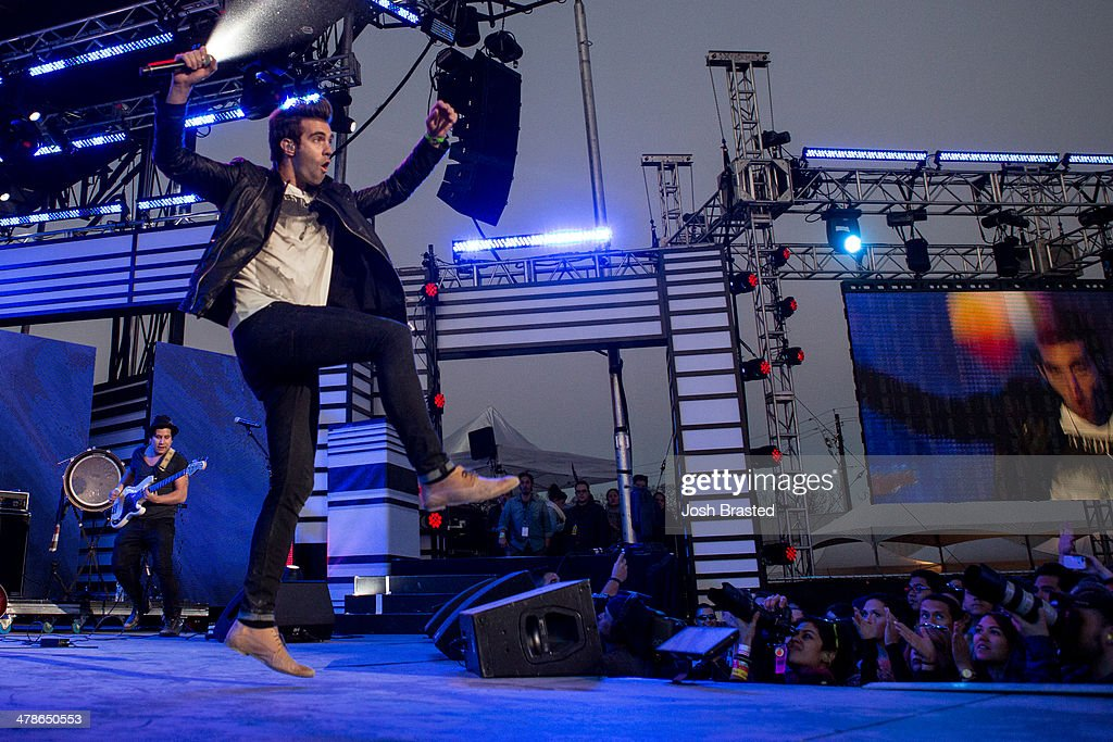 Zac Barnett of American Authors performs onstage at the 2014 mtvU Woodie Awards and Festival March 13, 2014 in Austin, Texas.