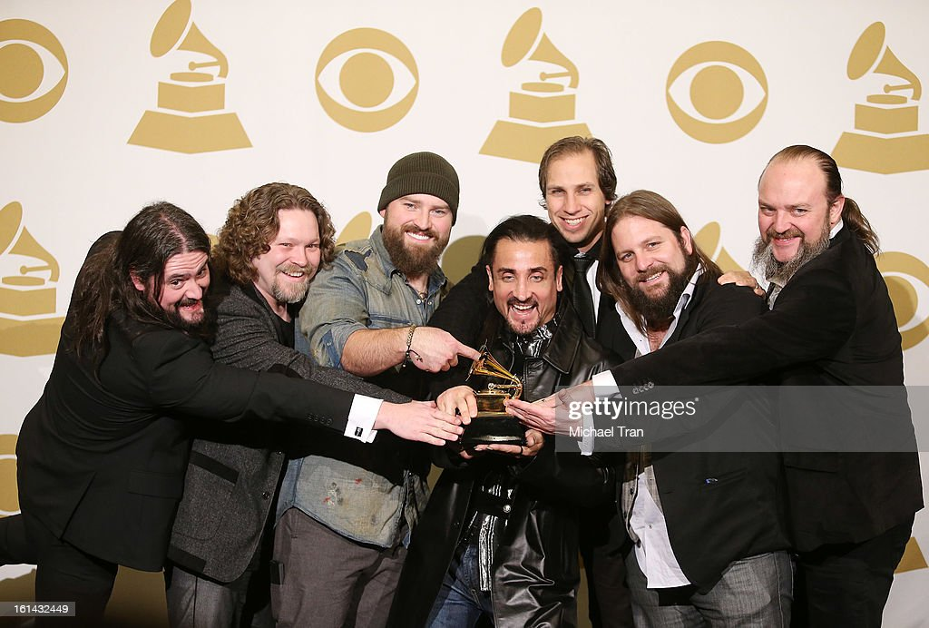 Zac Brown Band attend The 55th Annual GRAMMY Awards - press room held at Staples Center on February 10, 2013 in Los Angeles, California.