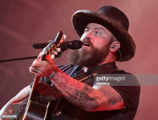 Zac Brown of Zac Brown Band performs at the VetsAid Charity Benefit Concert at Eagle Bank Arena on September 20 2017 in Fairfax Virginia VetsAid is a...