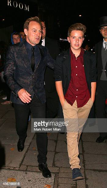 Zac Donovan and Jason Donovan attend the Pride of Britain awards at The Grosvenor House Hotel on October 6 2014 in London England