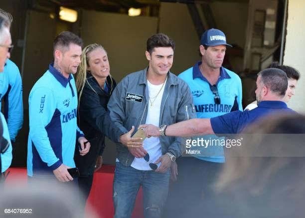 Zac Efron and Alexandra Daddario on Bondi Beach to promote Baywatch on May 17 2017 in Sydney Australia