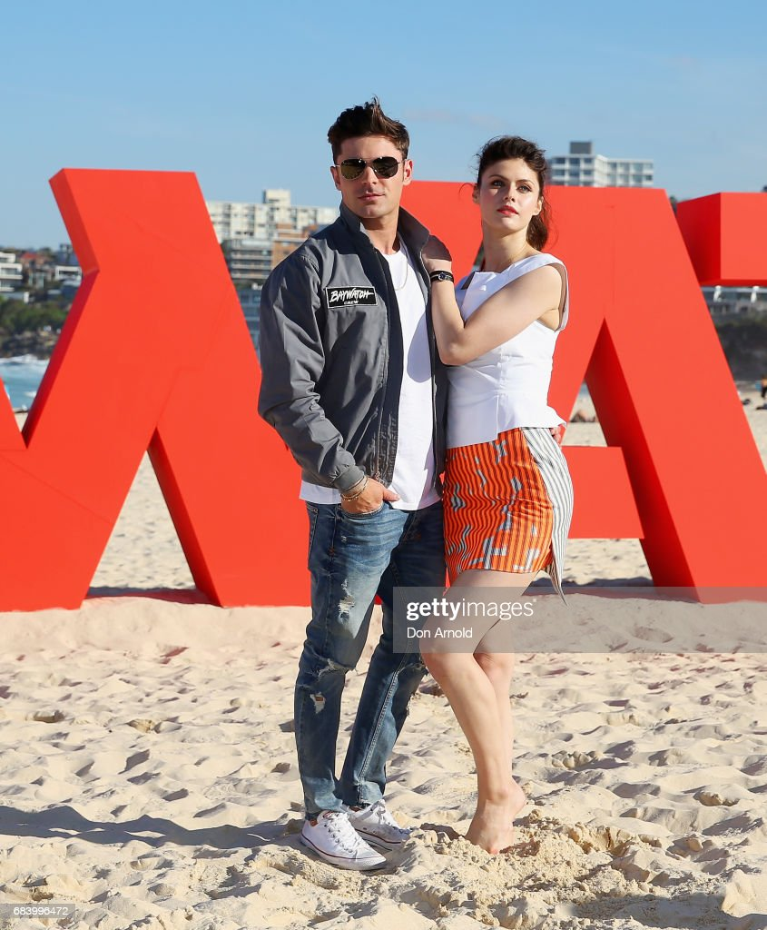 Zac Efron and Alexandra Daddario pose during a photo call for Baywatch on May 17, 2017 in Sydney, Australia.
