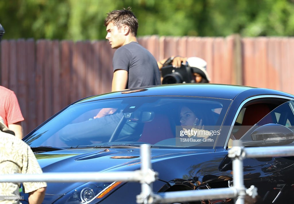 <a gi-track='captionPersonalityLinkClicked' href=/galleries/search?phrase=Zac+Efron&family=editorial&specificpeople=533070 ng-click='$event.stopPropagation()'>Zac Efron</a> and <a gi-track='captionPersonalityLinkClicked' href=/galleries/search?phrase=Emily+Ratajkowski&family=editorial&specificpeople=9198518 ng-click='$event.stopPropagation()'>Emily Ratajkowski</a> are seen filming 'We Are Your Friends' on August 20, 2014 in Los Angeles, California.