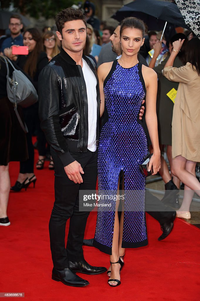 Zac Efron and Emily Ratajowski attend the European Premiere of 'We Are Your Friends' at Ritzy Brixton on August 11, 2015 in London, England.